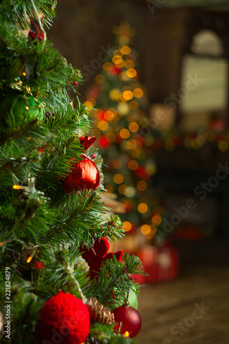 beautiful abstract christmas background withgarlands - 221824879