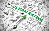 Ernährung Konzept für Clean Eating mit Kompass - 221826829