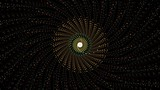 Seamless abstract geometric spiral loop on black background - 221839875