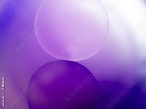 Purple orbs, abstract background. Layered effect, circles. - 221842613