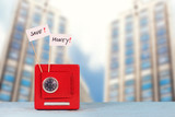 Tresor mit Save Money Schildern - 221843048