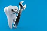 Tooth with adjustable wrench - 221843621
