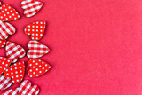 hearts on red background - 221843819