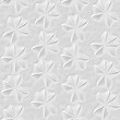 3D white floral seamless texture - 221850670