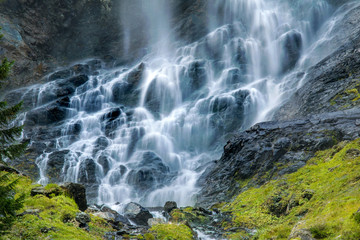 the waterfall Jungfernsprung in the Alps (Austria)