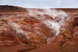 Evaporation in the geothermal valley, Leirhnjukur, Iceland - 221853254
