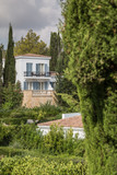 luxury mediterranean villa with balconys in a mediterranean landscape - 221859458