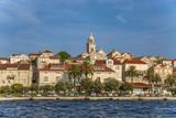 Panoramic view of the Korcula town, Korcula island, Dalmatia, Croatia - 221867473
