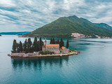 island in kotor bay, montenegro. beautiful view of sea and mountains - 221876435