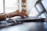 DIgital marketing technology concept. Internet. Online. Search Engine Optimisation. SEO. SMM. Advertising. - 221880011
