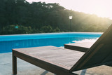 Hammock swimming pool by the dusk - 221880407