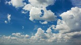 White clouds in blue sky time lapse 4k (4096x2304)  - 221881890