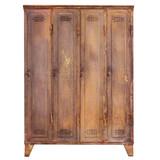 Vintage rusted locker isolated on white - 221882039
