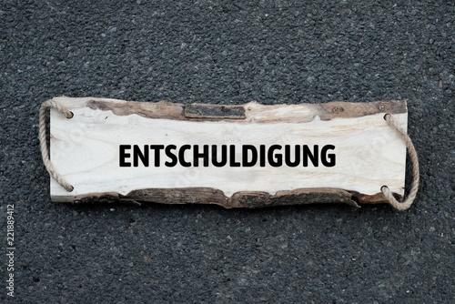 Leinwanddruck Bild Neutrales Bild auf dem das Wort Entschuldigung abgebildet ist. Abstrakte Illustration