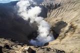 Crater of active volcano Bromo, Bromo Tengger Semeru National Park, East Java, Indonesia. - 221896874