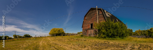 Foto Murales Old barn in the country