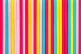 Vivid colorful straws arranged in vertical for background - 221924870