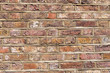 Leinwanddruck Bild - Background from a rough and worn red brick wall