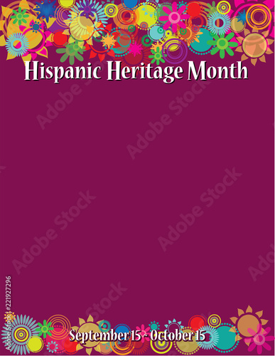 hispanic heritage month poster template buy photos ap images
