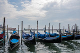 multiple gondolas on grand canal in venice