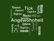 Das Wort - Angewohnheit - abgebildet in einer Wortwolke mit zusammenhängenden Wörtern - 221929229