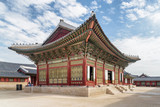 Sajeongjeon Hall of Gyeongbokgung Palace in Seoul, South Korea - 221934259