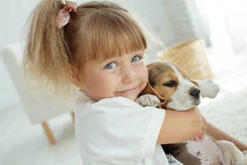 Child with dog  © nuzza11