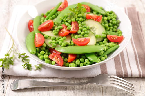 mixed green vegetable salad