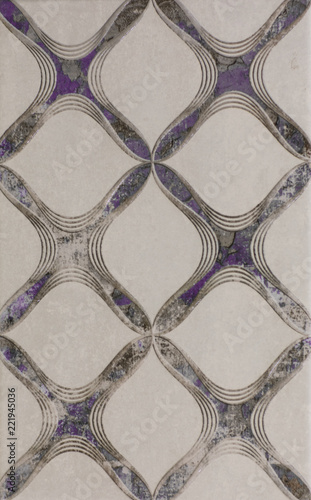 geometric abstract mosaic pattern, tile for kitchen - 221945036