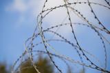 проволока натянута на забор закрытая территория  - 221947403