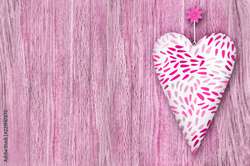 Heart against wooden background - 221947870