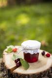 Homemade cornel cherries jelly - 221949402