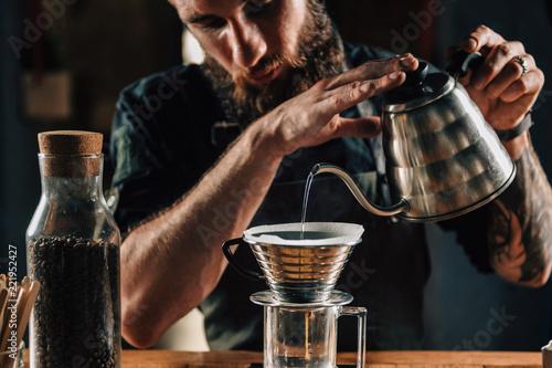 Barista Making Calita Drip Brew Coffee | Buy Photos | AP