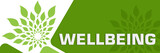 Wellbeing Green Leaves Circular Rounded Squares  - 221956650
