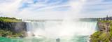 Panoramic view at the Hoseshoe falls of Niagara Falls in Canada