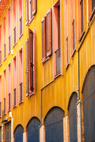 View on the historic architecture in Cremona, Italy on a sunny day. - 221967282