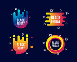 Black Friday Sale. Special offer price sign. Advertising Discounts symbol. Sale banners. Gradient colors shape. Abstract design concept. Vector - 221974231