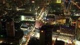 Time Lapse Aerial View of Bangkok City Cars Traffic Congestion on Street Night - 221978600
