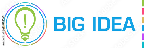 Big Idea Colorful Blue Circles Horizontal