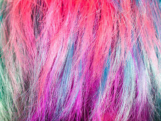colorful dyed strands of female hairs © vvoe