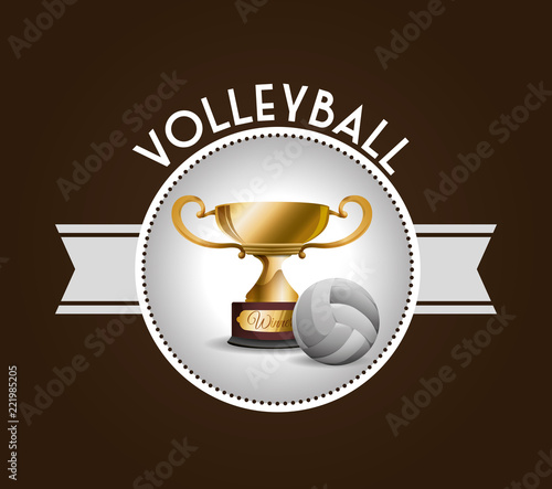 Fototapeta Volleyball icon design