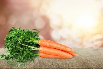Fresh orange carrots