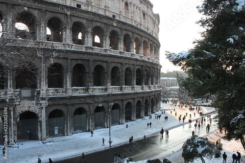 Koloseum pod śniegiem