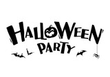 Halloween Party. Vector lettering. Holiday calligraphy title.
