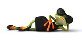 Fun frog - 3D Illustration - 222006404