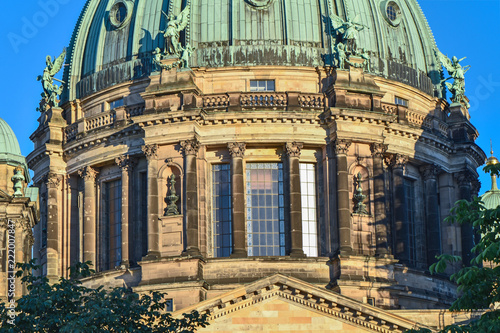 View to a part of the Berlin Dome in the downtown of Berlin in the evening sun. - 222007847