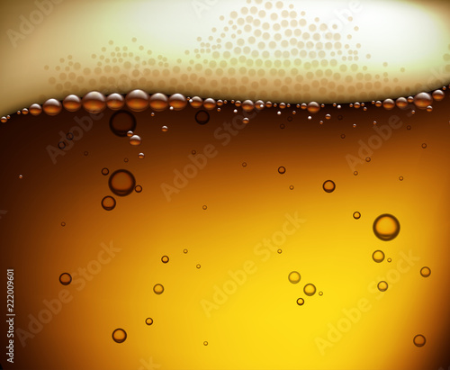 Poster Beer background. Highly realistic illustration with the effect of transparency.
