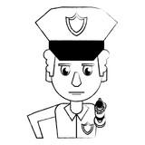 Police profile cartoon sketch - 222011693