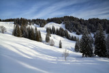 snowy mountains during sunny day - 222024627