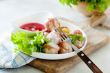 Traditional swedish meatballs with potato, cranberry and creamy sauce - 222026290